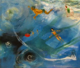 IN SWIMMING POOL JOY, 30 x 35 cm