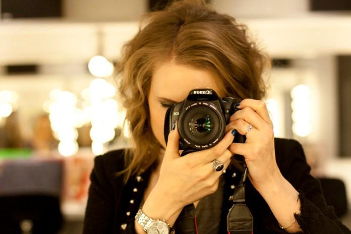 Self portrait taken with a DSLR