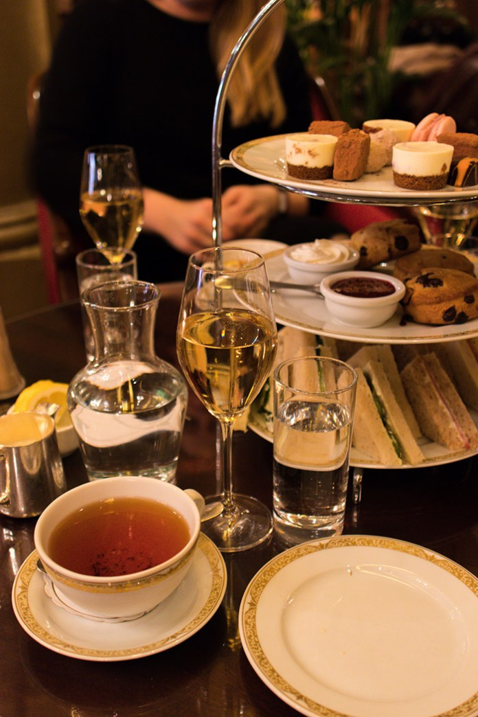 Champagne afternoon tea at Hotel Bristol.