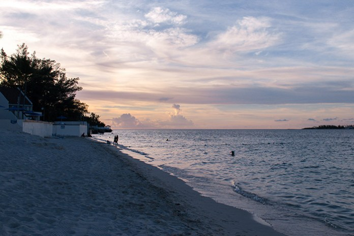 Sunset at Nassau Beach, The Bahamas.