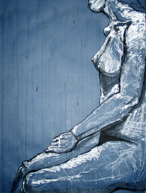 Blue Female Ink Rain