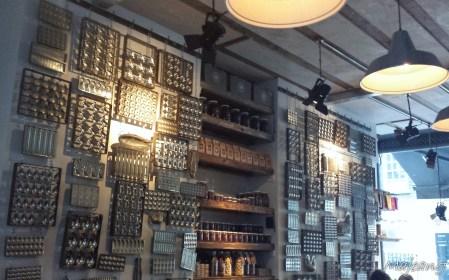 Interior of chocolate shop