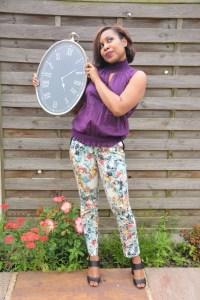 Tea party trouser look. Inspired by Alice in Wonderland lookbook
