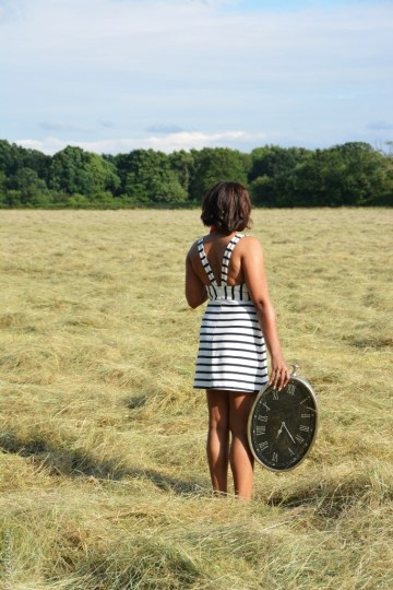 Alice in Wonderland inspired lookbook- stripped dress