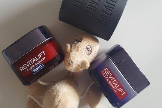 L'oreal revitalift night cream and renew mask