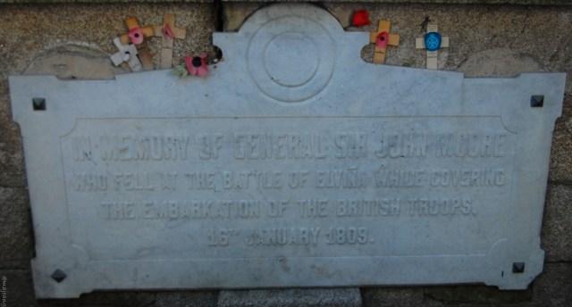 Sir John Moore's tomb in A Coruna Spain on www.majeang.com