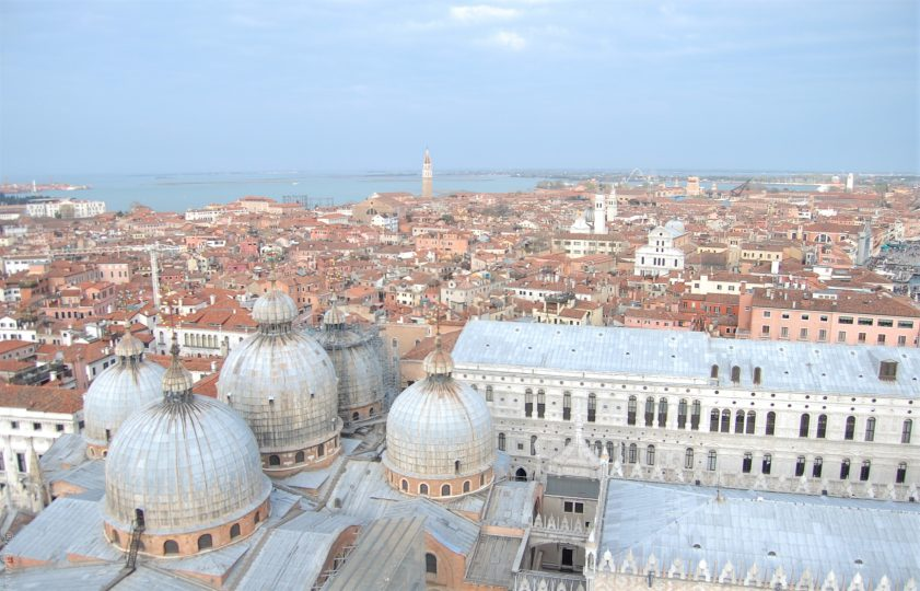 travel review of 2016- Top of St Mark's Venice