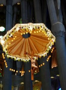 Crucifixation of Christ inside La Sagrada Familia, Barcelona