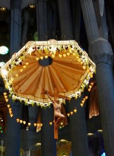 travelling on budget- Crucifixation of Christ inside La Sagrada Familia, Barcelona