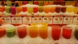 Las Ramblas market, fresh juices
