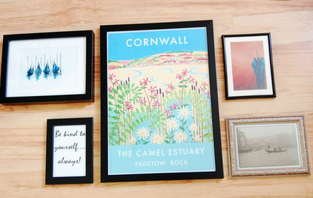 creating a wall gallery, prints in frame