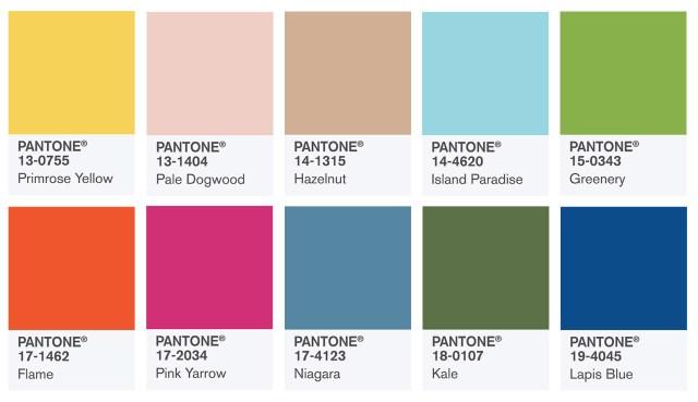 spring summer 2017 colours panatone
