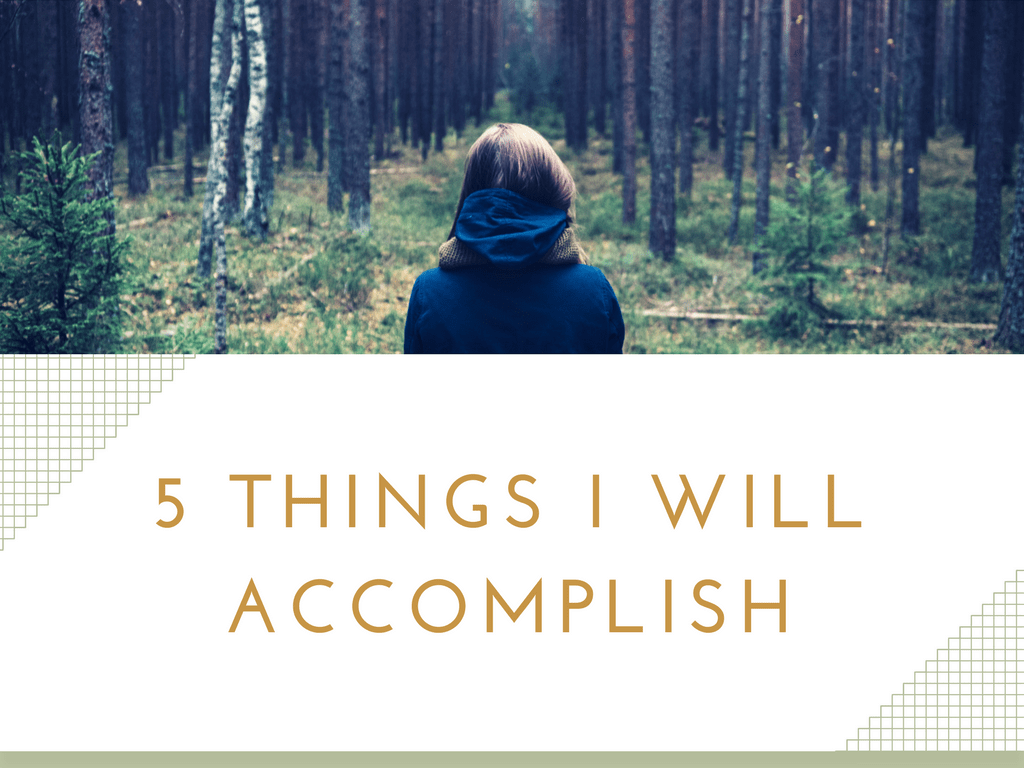 5 Things I Will Accomplish