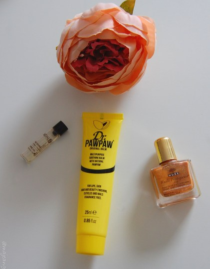 7 beauty hacks- nuxe oil, caudalie oil and paw paw