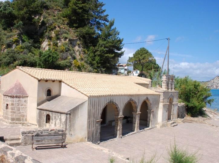 picture postcards from zante- church