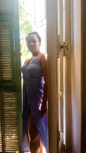 city break styling - Satin cami dress www.majeang.com