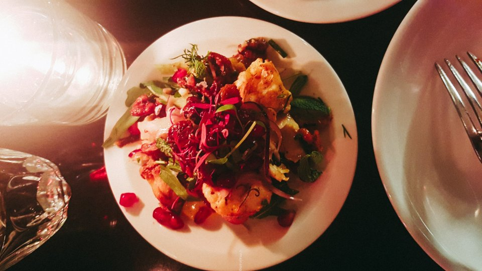 100 hoxton, tapas style- roasted cauliflower