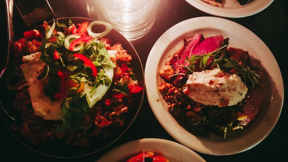 100 hoxton, tapas style- thai style rice and steak