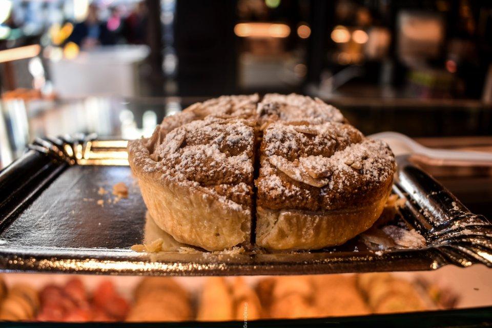 5 reasons madrid makes a great city break - almond tart from Mercardo San Miguel