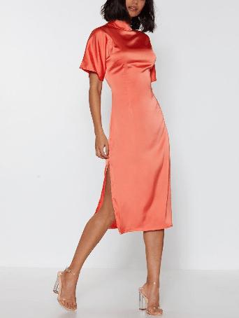 spring fashion edit - Nastygal satin dress