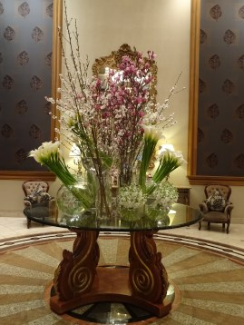 Flowers in the Langham Lobby