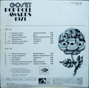EMI - SOELP 9829 - GoSet Pop Poll Awards 71 - Back cover