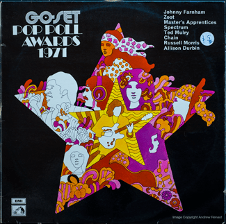 Go-Set Pop Poll Awards 1971 - front cover
