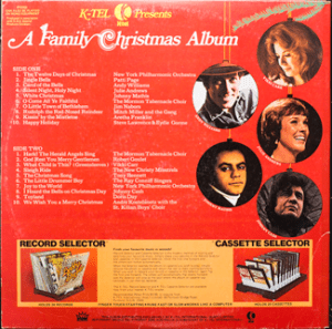 K-tel - A Family Christmas Album -  Back cover