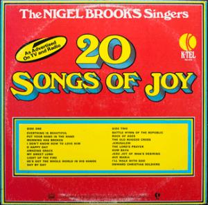 Ktel - Songs of Joy - NA474 - Back cover