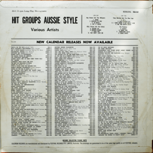 Festival - R66501F - Hit Groups Aussie Style - Back cover