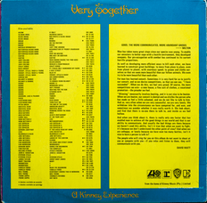 Kinney - Very Together - Back cover