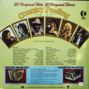 Ktel - Country Feeling - WA345 Back cover