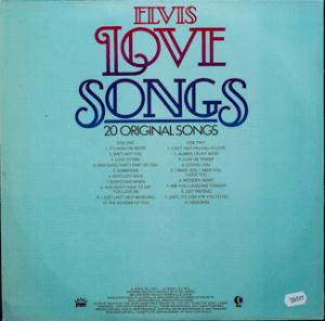 Ktel - Elvis Love Songs - NA531 - Back cover