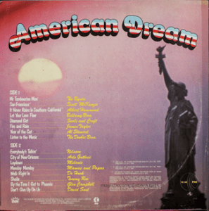 K-tel - American Dream - NA548 - Back cover