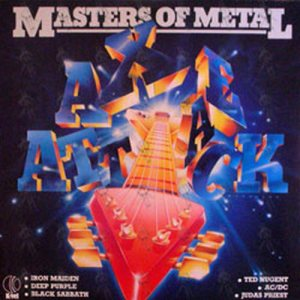 K-tel - NA669 - Masters Of Metal - Axe Attack - Front cover - temp