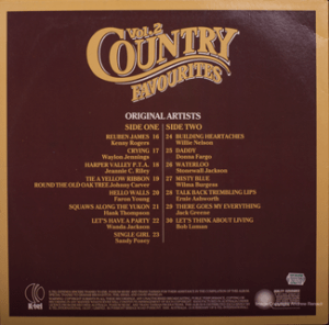 K-tel - NA685B - Country Favourites - Back cover