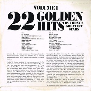 22 Golden Greats Back Cover