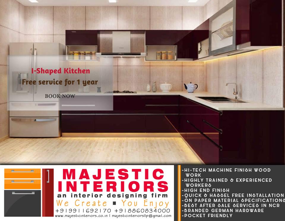 Modular Kitchen Latest Design By Majestic Interiors Modular Kitchens Faridabad
