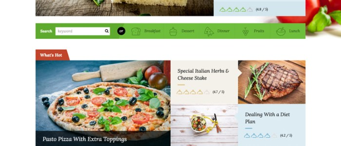 Html template archives majestic themesmajestic themes recipepress is a premium template for recipes and other food related websites it has various home page variations with 15 independent section forumfinder Choice Image