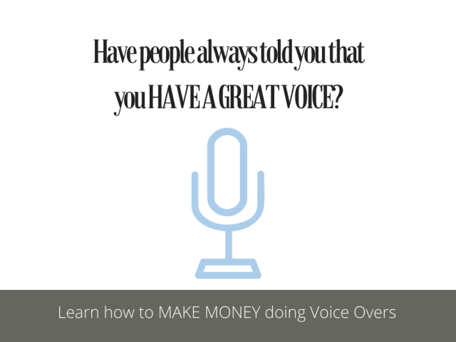 Free course on How to make money from home doing voice overs