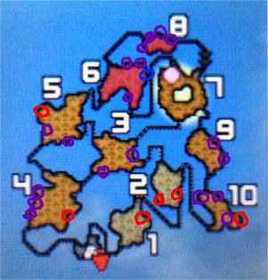 たんと掘れ火山地図採掘ポイント