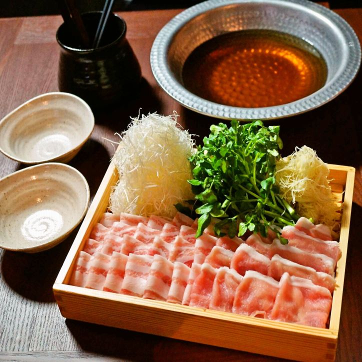 「豚生姜しゃぶしゃぶ鍋」一人前¥1200 ※2人前より注文可能