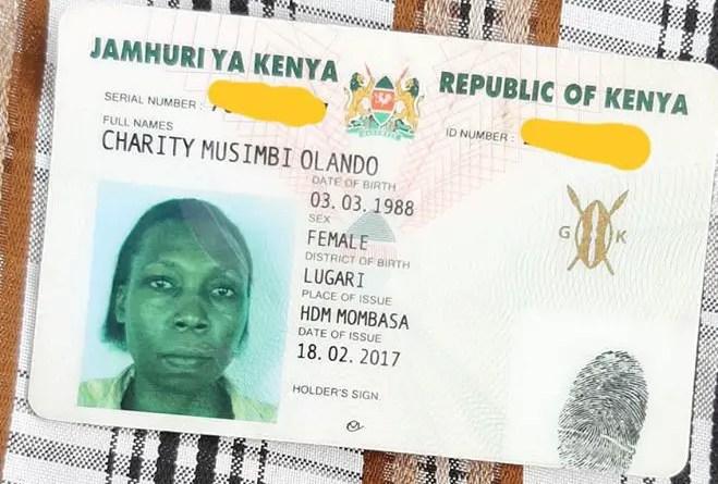 lost id application