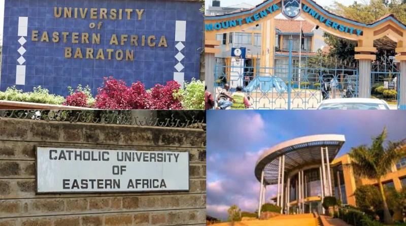 list of all private universities in kenya