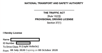 how to apply for provisional driving license in kenya