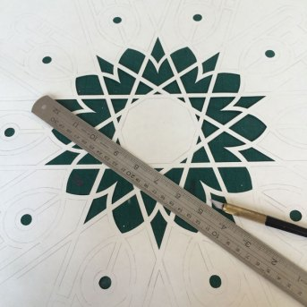Cutting out negative spaces.