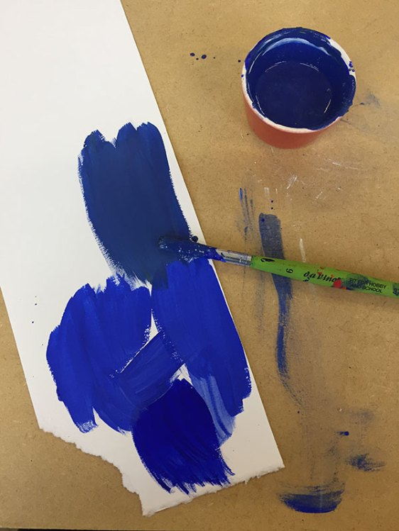 Mixing a slightly dull blue