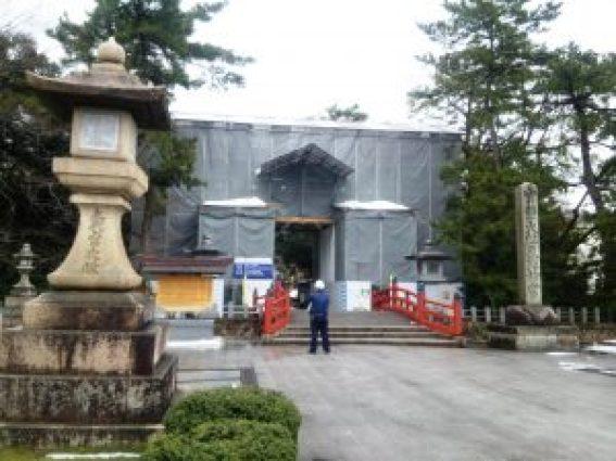 気比神宮大鳥居改修工事中