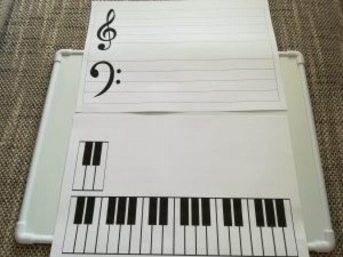 五線と鍵盤