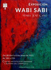 María José Cano | Expresionismo abstracto exposición de pintura wabi sabi en Granada